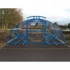 Boscastle Compound Cycle Shelter 20 Bikes with Secure Gate, Sky Blue