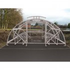 Boscastle Compound Cycle Shelter 28 Bikes with Secure Gate, Galvanised only