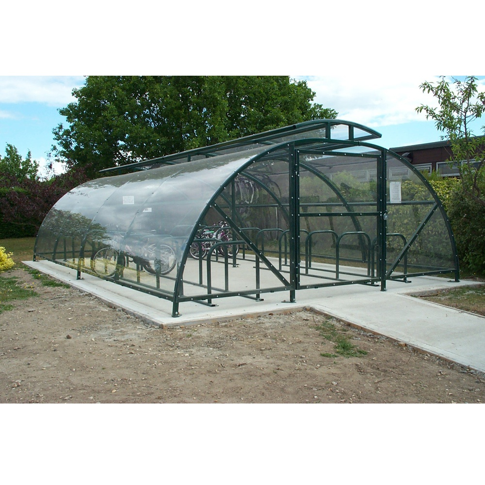 Secure Bike Shelters : Boscastle compound cycle shelter bikes with secure gate