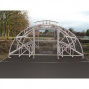 Boscastle Compound Cycle Shelter 48 Bikes with Secure Gate, Grey