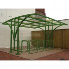 Centro 30 Bike Shelter, Green