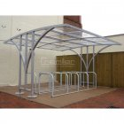 Centro 40 Bike Shelter, Galvanised Only