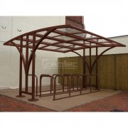 Centro 50 Bike Shelter, Brown