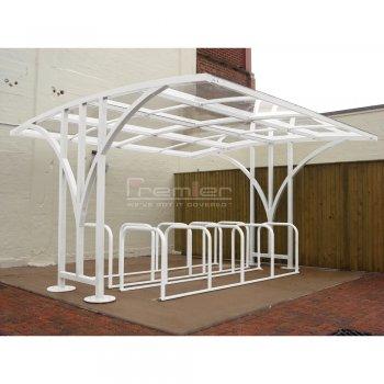 Centro 50 Bike Shelter, White