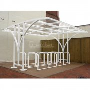 Centro 50 Bike Shelter, White