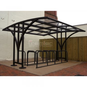Centro 60 Bike Shelter, Black