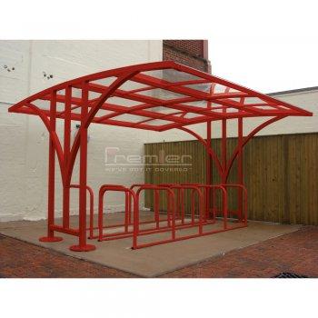 Centro 60 Bike Shelter, Red