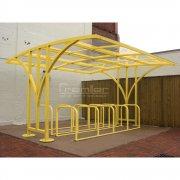 Centro 60 Bike Shelter, Yellow