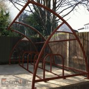 Finsbury 10 Bike Shelter, Brown