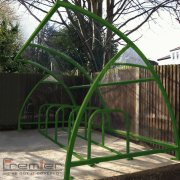 Finsbury 10 Bike Shelter, Green