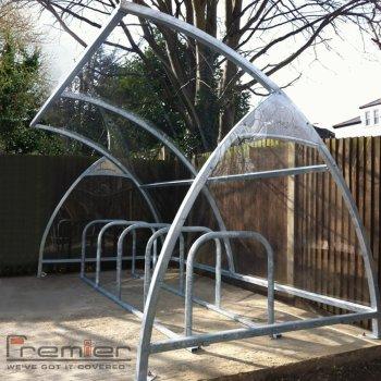 Finsbury 10 Bike Shelter, Grey