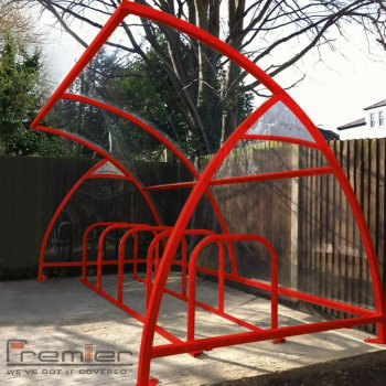 Finsbury 10 Bike Shelter, Red