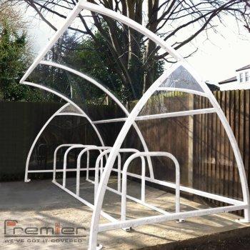 Finsbury 10 Bike Shelter, White