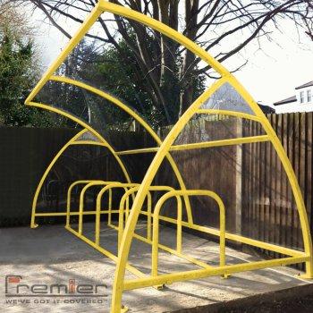 Finsbury 10 Bike Shelter, Yellow