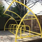 Finsbury 10 Bike Shelter, Yellow