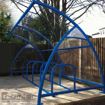 Finsbury 14 Bike Shelter, Marine Blue