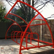 Finsbury 14 Bike Shelter, Red