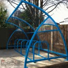 Finsbury 14 Bike Shelter, Sky Blue