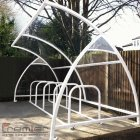 Finsbury 24 Bike Shelter, White
