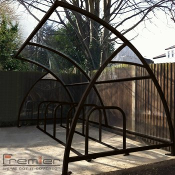 Finsbury 30 Bike Shelter, Black