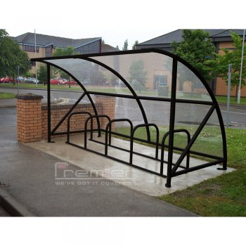 Harlyn 10 Bike Shelter, Black