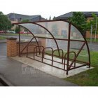 Harlyn 10 Bike Shelter, Brown
