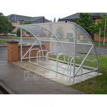Harlyn 10 Bike Shelter, Galvanised Only