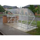 Harlyn 10 Bike Shelter, Galvanised Only