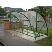 Harlyn 10 Bike Shelter, Green