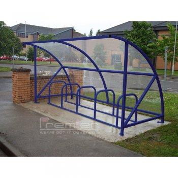 Harlyn 10 Bike Shelter, Marine Blue