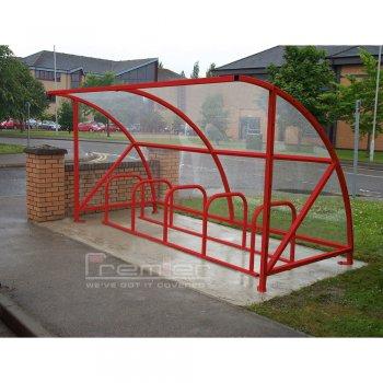 Harlyn 10 Bike Shelter, Red