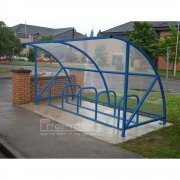 Harlyn 10 Bike Shelter, Sky Blue
