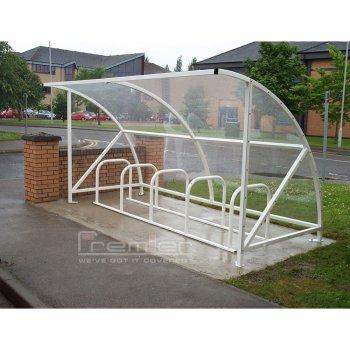 Harlyn 10 Bike Shelter, White