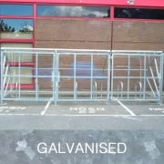 Harlyn 10 Bike Shelter with Secure Gates, Galvanised Only