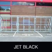 Harlyn 10 Bike Shelter with Secure Gates, Jet Black