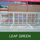 Harlyn 10 Bike Shelter with Secure Gates, Leaf Green