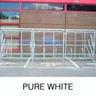 Harlyn 10 Bike Shelter with Secure Gates, Pure White