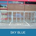 Harlyn 10 Bike Shelter with Secure Gates, Sky Blue