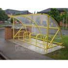 Harlyn 10 Bike Shelter, Yellow