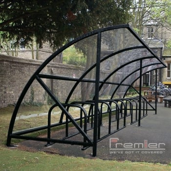 Harlyn 14 Bike Shelter, Black