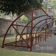 Harlyn 14 Bike Shelter, Brown