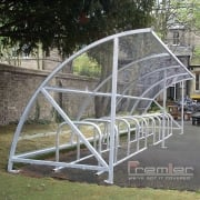 Harlyn 14 Bike Shelter, Grey