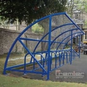 Harlyn 14 Bike Shelter, Marine Blue
