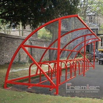 Harlyn 14 Bike Shelter, Red
