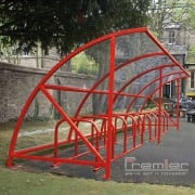 Harlyn 14 Bike Shelter, Red