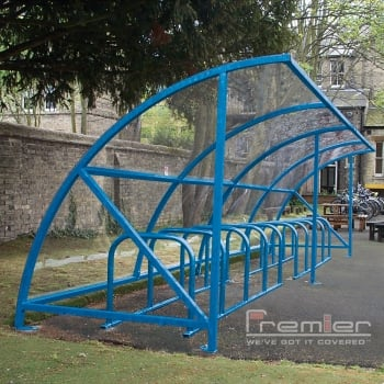 Harlyn 14 Bike Shelter, Sky Blue