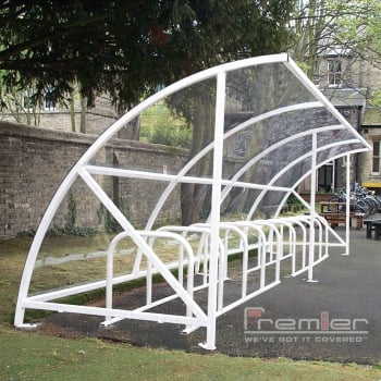 Harlyn 14 Bike Shelter, White
