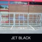 Harlyn 14 Bike Shelter with Secure Gates, Jet Black