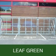 Harlyn 14 Bike Shelter with Secure Gates, Leaf Green