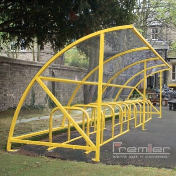 Harlyn 14 Bike Shelter, Yellow